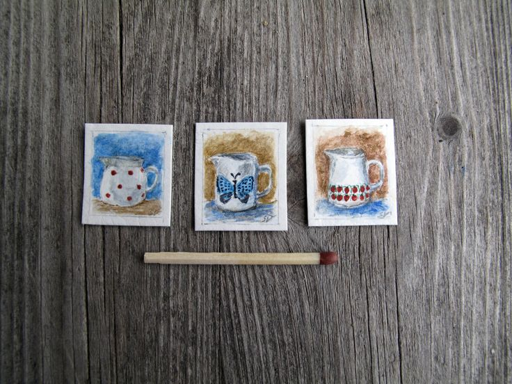 Miniature paintings by Saara Vallineva