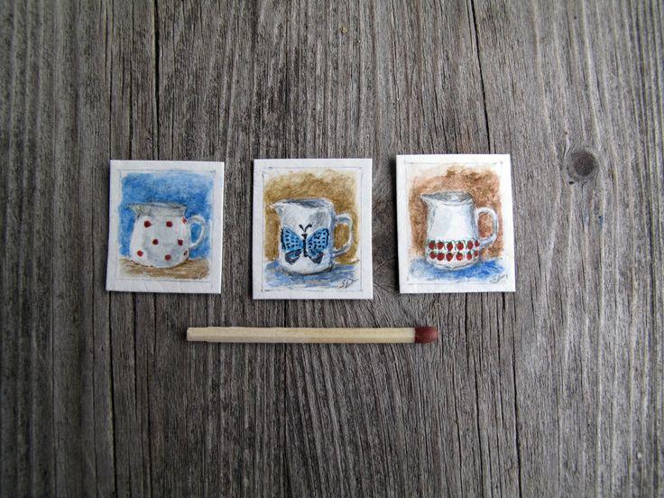 Miniature paintings by Saara Vallineva