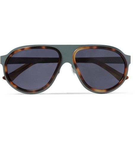 L.G.R Coated Stainless-Steel and Acetate Aviator Sunglasses | MR PORTER