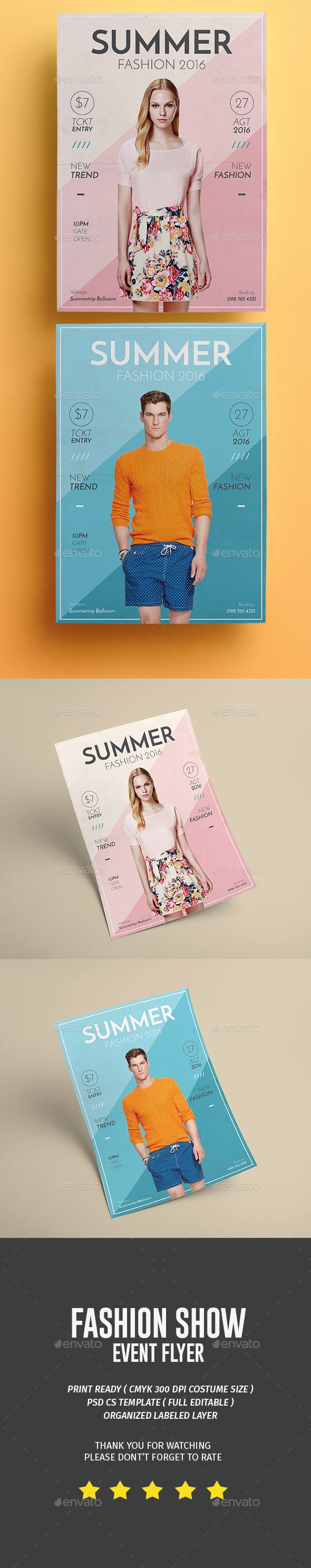 Summer Fashion PSD Flyer  Template • Only available here ➝ http://graphicriver.net/item/summer-fashion-flyer/16814048?ref=pxcr