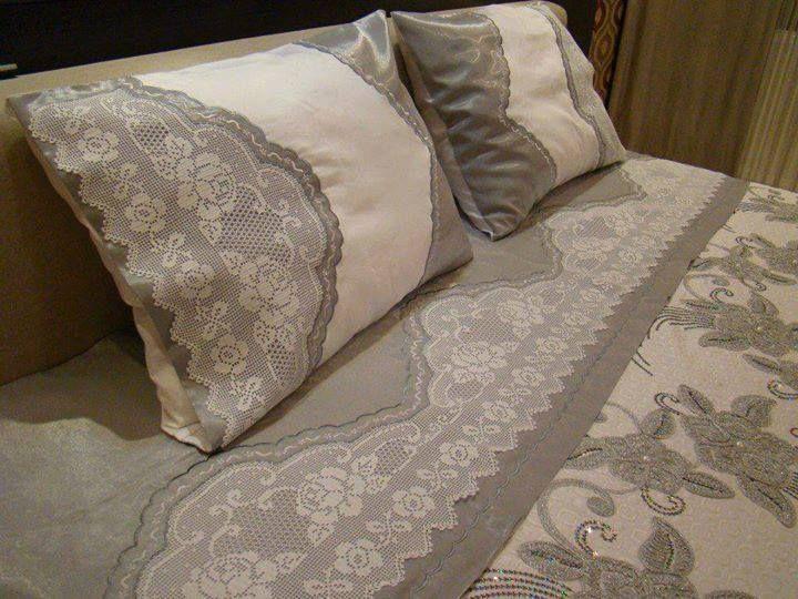 Dantel yatak ortusu
