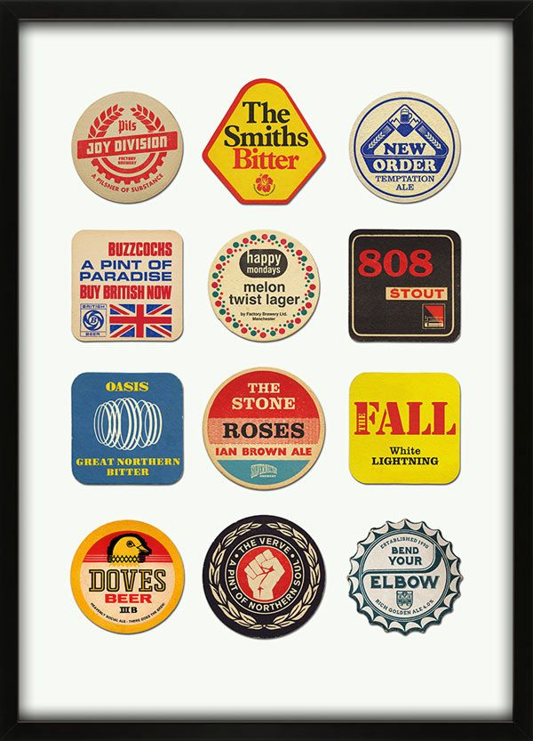 Manchester Best - Beer Mat collection print by 67 Inc