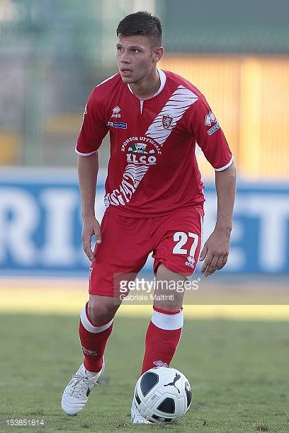 Marco Calderoni of US Grosseto in action during the Serie B match between US Grosseto FC and US Sassuolo at Stadio Olimpico on October 6 2012 in...