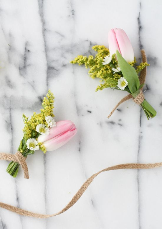 Tiny Tulip Bouquet for Spring, Easter, and Mother's Day