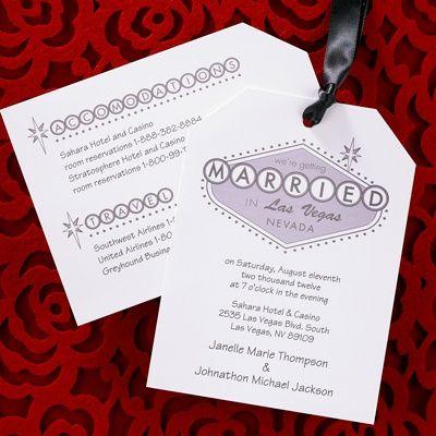 9 best Las Vegas Wedding Invitations images on Pinterest