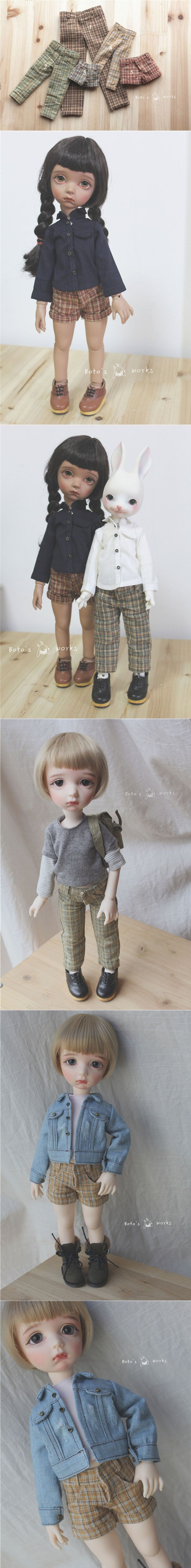BJD Clothes 1/6 1/4 Girl/Boy Gird Trousers/Short Pants for MSD/YSD Ball-jointed Doll_CLOTHING_Ball Jointed Dolls (BJD) company-Legenddoll