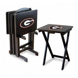 Georgia UGA Bulldogs NCAA Team Logo TV Trays/Tailgate Tables