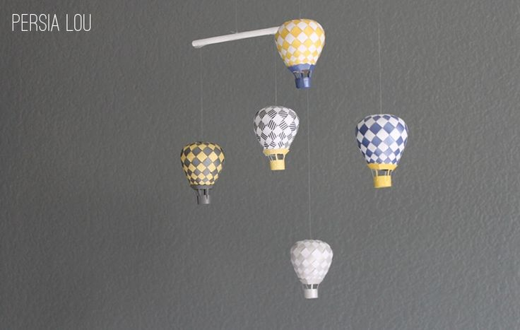 I have been wanting to try to make the beautiful woven paper hot air balloons from PaperMatrix for a long time now, and finishing up the nursery gave me the motivation to give it a shot. PaperMatrix generously provides free pdf templates that you can print off, cut out, and weave into amazing 3D works...  | www.homeology.co.za