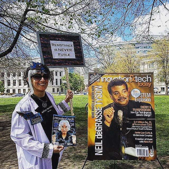 Reposting @innotechtoday: #TBT at the #denver March for #Science. Tag a friend who stands for Science!  @neildegrassetyson #tech #innovation #stem #engineering #scientists #like4like #likeforlike #likeforfollow #like4follow #likeback