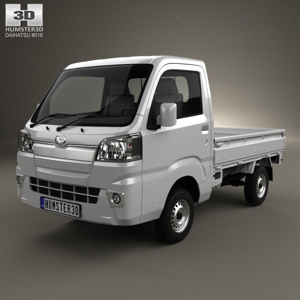 Daihatsu Hijet Truck 2014 3d model from Humster3D.com