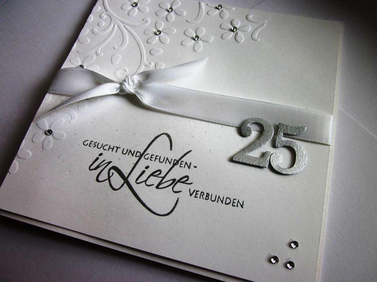 #stampin up - Karte zur Silberhochzeit - Anlässlich - Prägefolder Blumenranke - Memory Box Chloe Stem - Flowering Flourishes - BigZ Umschlag mit Zierlasche