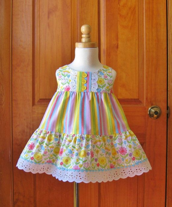 Baby girl tiered dress and shorts set by ForTheLoveOfSmocking