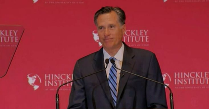 The following is a transcript of Mitt Romney's remarks addressing the candidacy of Donald J. Trump, as transcribed by the Federal News Service.