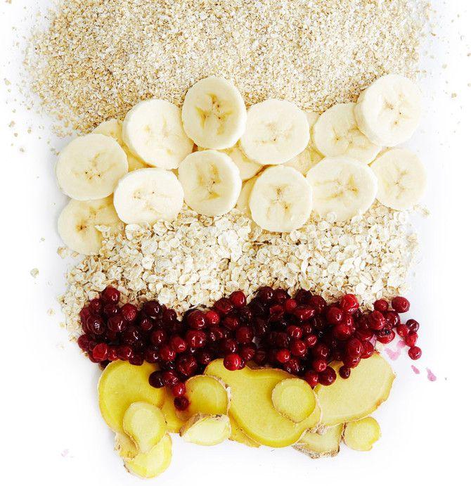 Puolukka-banaani-tuorepuuro