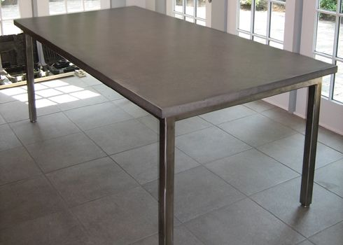 52 best images about concrete counters tables on for Concrete kitchen table