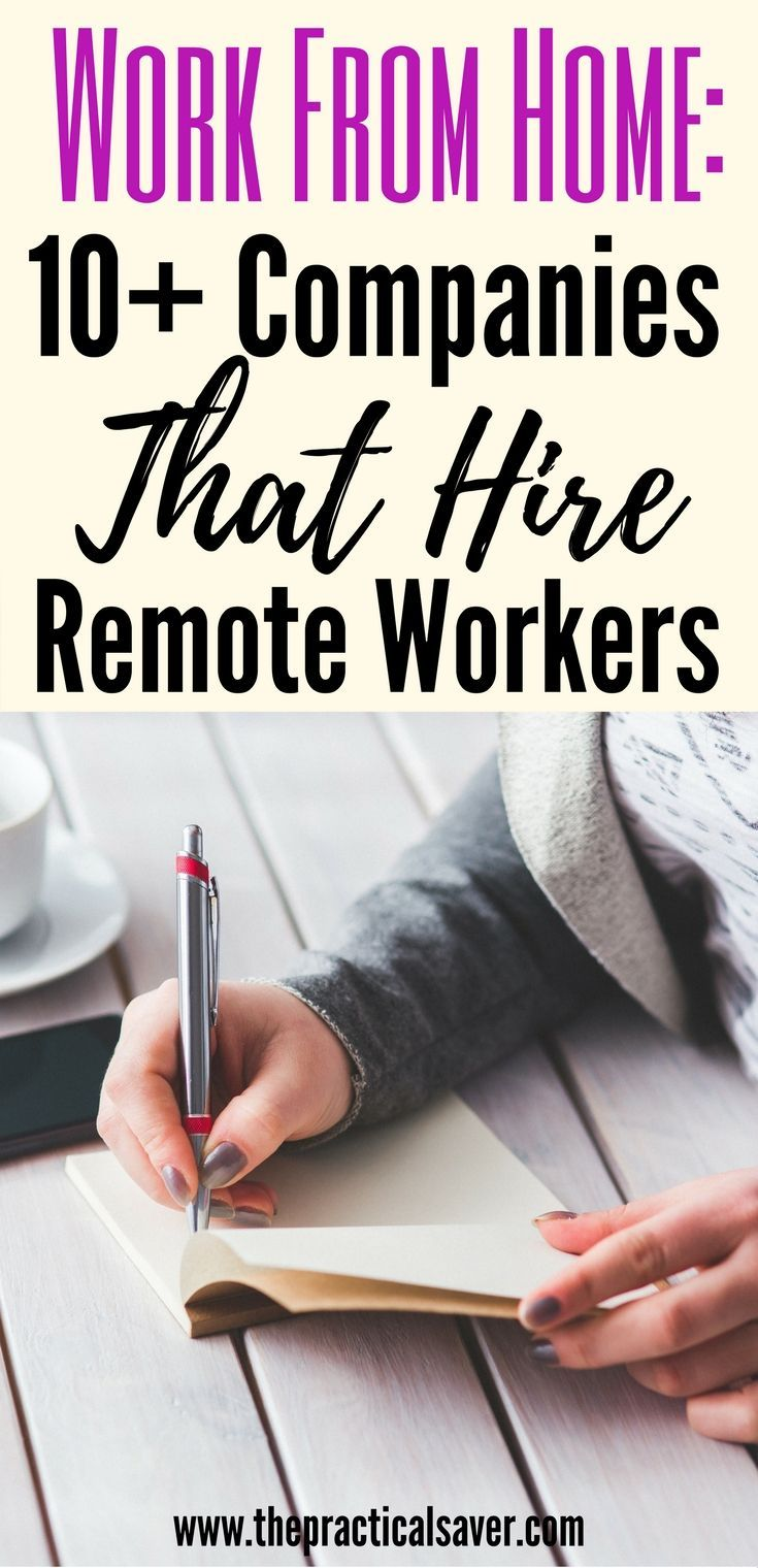 Work From Home Jobs Companies That Hire Remote Workers