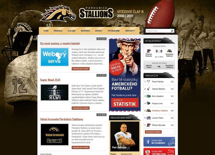 Stali jsme se partnerem týmu amerických fotbalistů Pardubice Stallions, kterým jsme vytvořili zcela nový web.