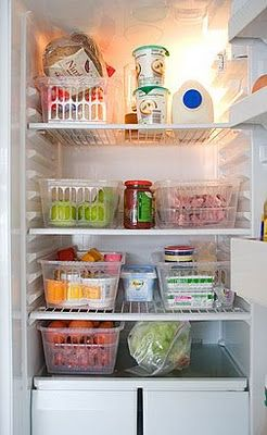 Good idea for organization fridge and pantry and misc.  Wouldn't keep potatoes and tomatoes in the fridge though...