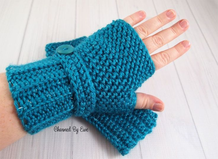 Herringbone Fingerless Gloves - Free Crochet Pattern by Janaya Chouinard at Charmed By Ewe.
