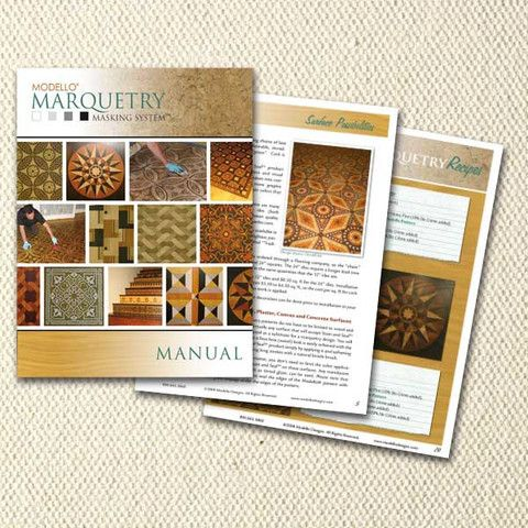 Modello Marquetry Manual Developed by Melanie Royals, our exclusive Modello Marquetry Masking System for faux marquetry finishes on wood, cork, and more. using