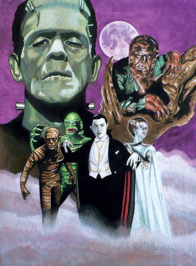 Universal Monsters by Bill-Pulkovski.deviantart.com on @deviantART