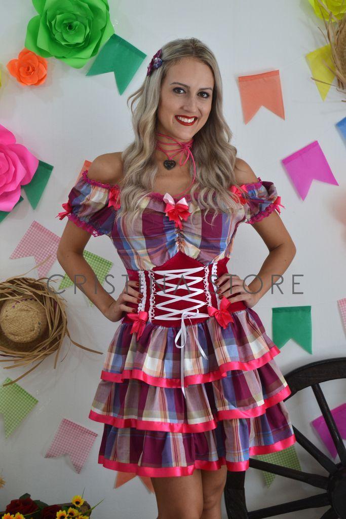 Vestido Xadrez Alice - Caipira Chic - loja online