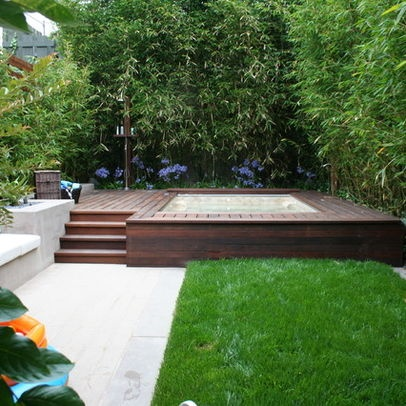 269 best small inground pool spa ideas images on pinterest for In ground pool surround ideas