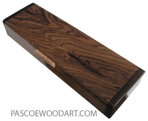 Handmade wood pill box - Weekly pill organizer mde of bolivian rosewood with ziricote ends
