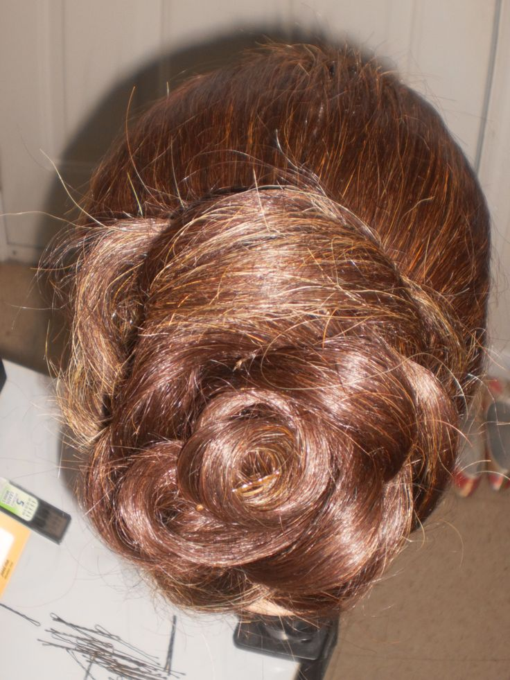 Floral bun - updo 2nd view