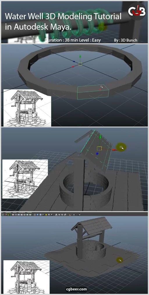 Water well 3d modeling tutorial in Autodesk maya | 3D artist