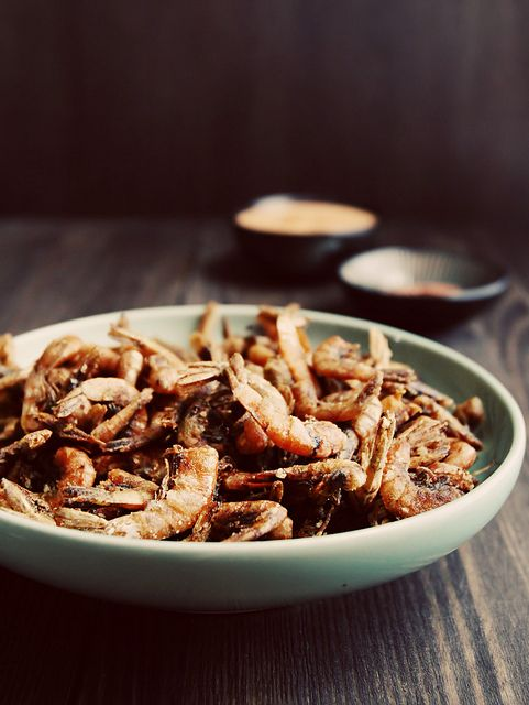 Fried Spicy School Prawns with Kimchi Mayo and Paprika Salt by Citrus ...