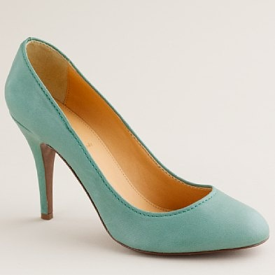 i love i love i love i love: Teal Shoes, J Crew, Leather Pumps, Blue Shoes, Mint Shoes, Jcrew, Something Blue, Robins Eggs Blue, Mona Leather