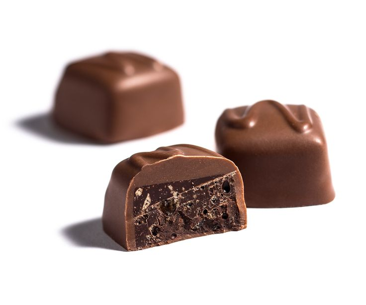 Milk Wattleseed Crunch - A crunchy wattle seed toffee and chocolate centre, enrobed in smooth milk chocolate. #AustraliaDay #Celebrate