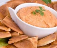 Roasted Red Capsicum Cream Cheese Dip