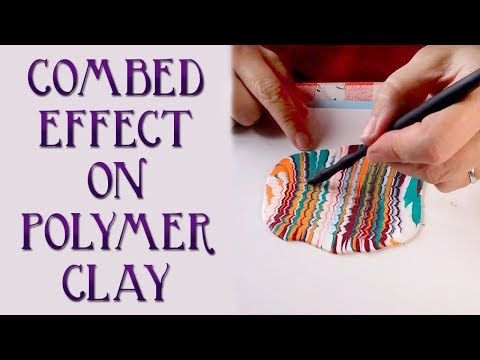 How To Make A Combed (Feathered, Marbled) Polymer Clay Veneer - YouTube