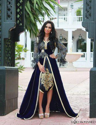 A unique Moroccan Caftan in Black and Gold