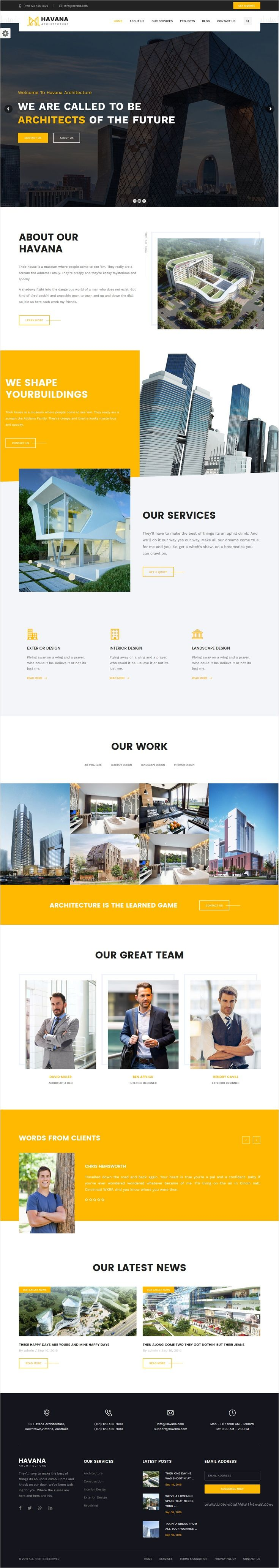 Havana is a clean, minimal and stylish #design responsive 3 in 1 #WordPress theme perfect for all sorts of #architect and interior design studio websites download now➩ https://themeforest.net/item/havana-architecture-interior-and-design-wordpress-theme/18047187?ref=Datasata