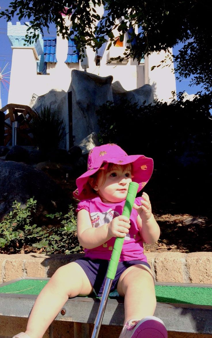 BOGEY ABBY - Oct. 5, 2016 -  Sunday Grandma took me to play miniature golf and I loved playing golf.   It is better than a play date.  You get a steel stick and a purple bouncy ball.  Then you go through the course.  That is what they call the place where  you go to hit your ball into a little hole...