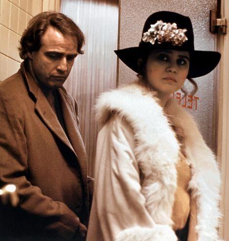 "Marlon Brando with Maria Schneider in ""Last Tango in Paris"""