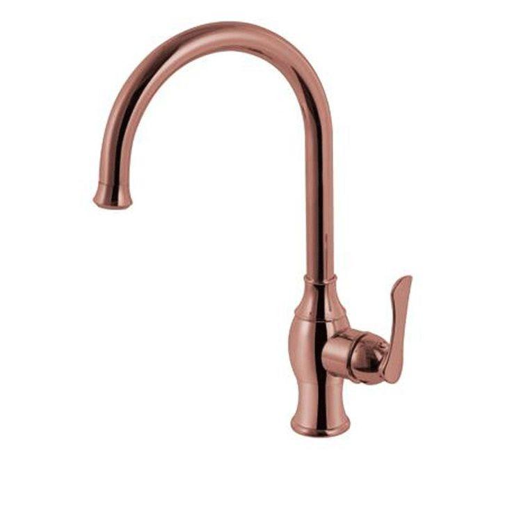 Smarstar Robinet de lavabo Cuisine Laiton finition cuivre Contemporain Centerset avec Contrôle de la poignée unique - Rose d'or