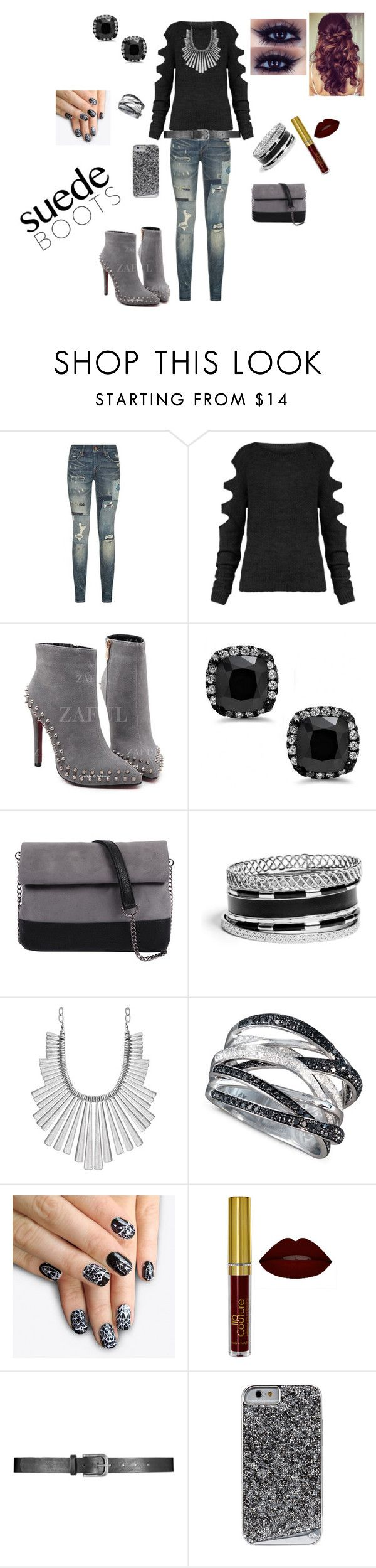 """""""boots"""" by lisa-ann-little ❤ liked on Polyvore featuring Polo Ralph Lauren, 7 Chi, GUESS, Lucky Brand, Effy Jewelry and alfa.K"""