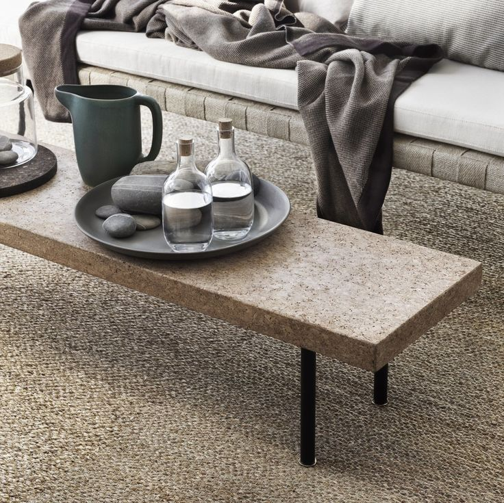The bench ($119) can be used with the dining table or as a narrow coffee table for small spaces. The seagra...