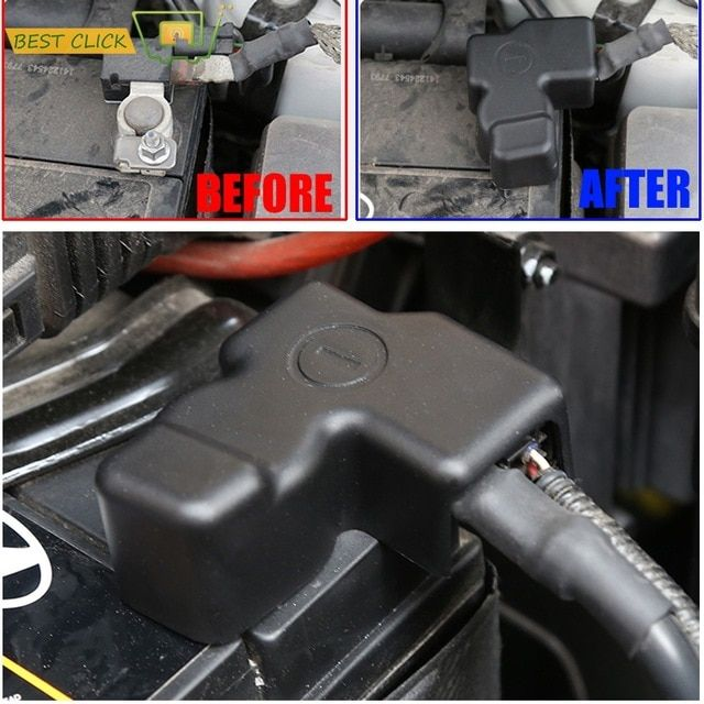 For Kia Ceed Rio Pride K2 K3 Rondo Carens Morning Picanto Battery Batteries Negative Electrode Protector Terminal Pole Cover Kit Elantra Negativity Electrodes