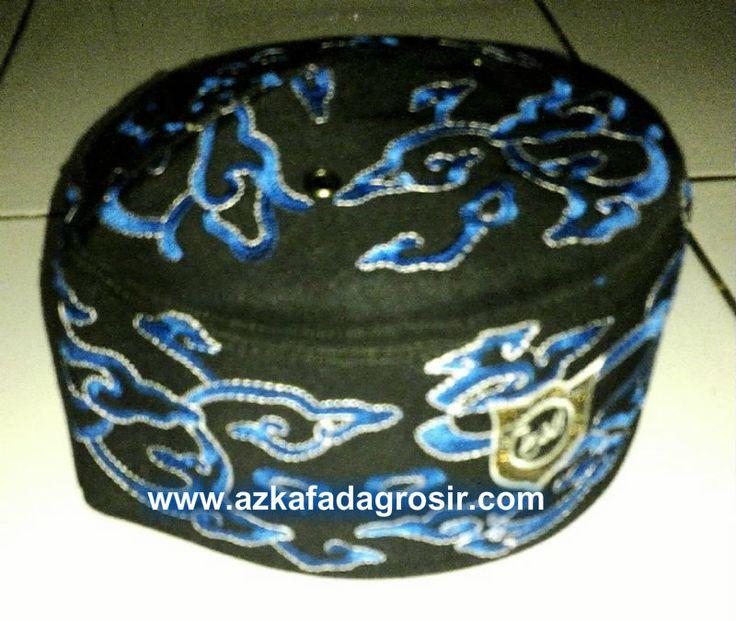 Peci Bordir Batik Mega Mendung | Azkafada Grosir