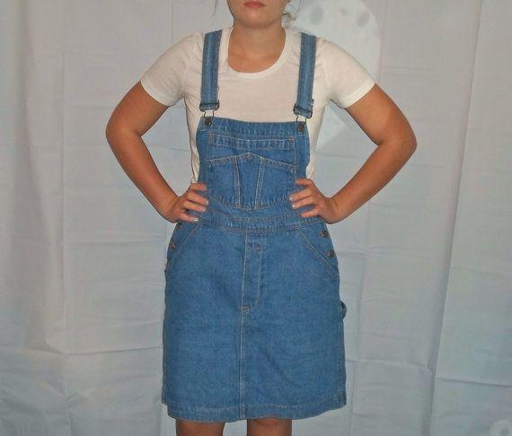 Denim jumper dress plus size 24