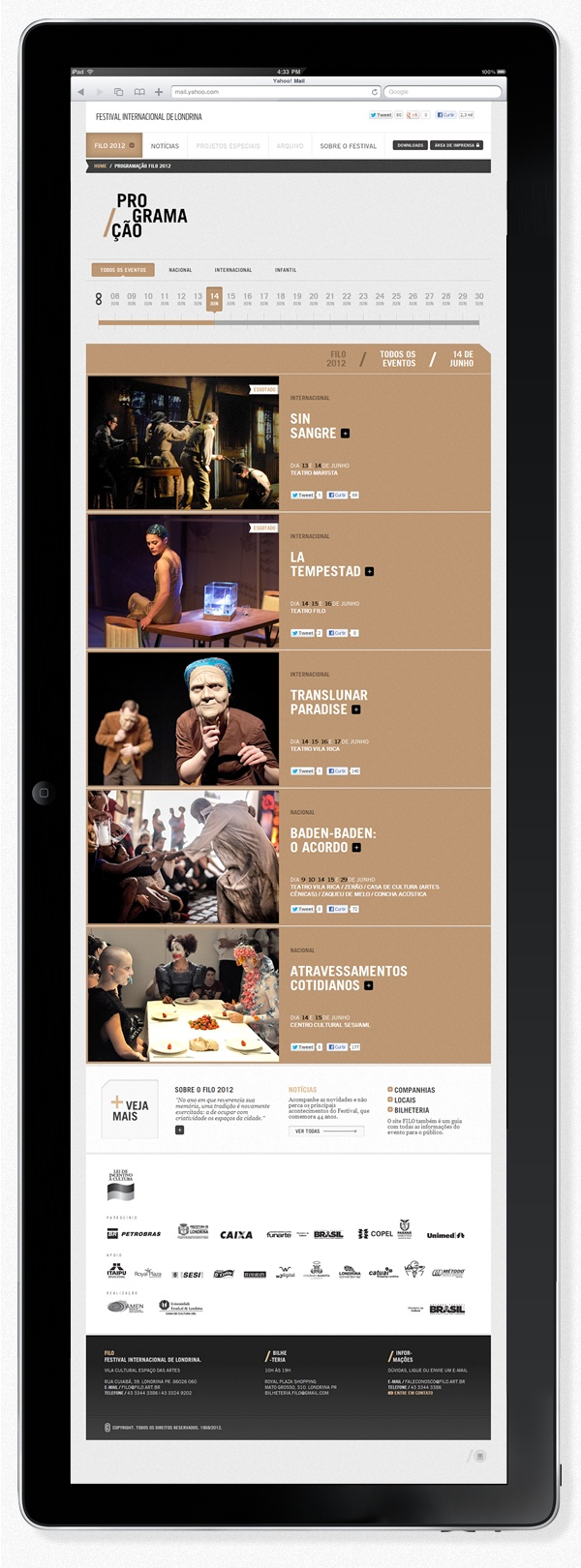 Filo Festival 2012 | Londrina by Pianofuzz , via Behance