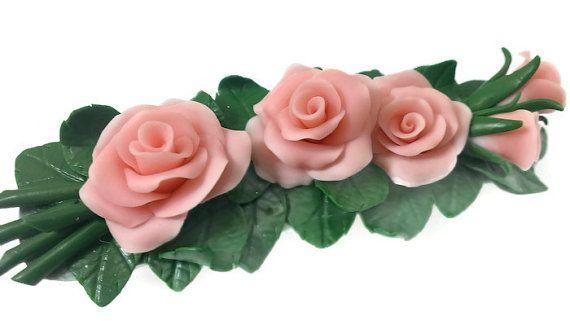 Hair accessory. Jewelry.  Automatic hairpin. Flowers от VinTESA