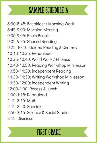 Image result for visual schedule in classroom