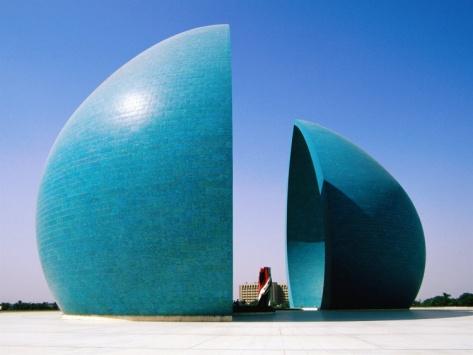 Martyr's Monument to Iraq/Iran War, Baghdad, Iraq.  Photographic Print by Jane Sweeney at Art.com