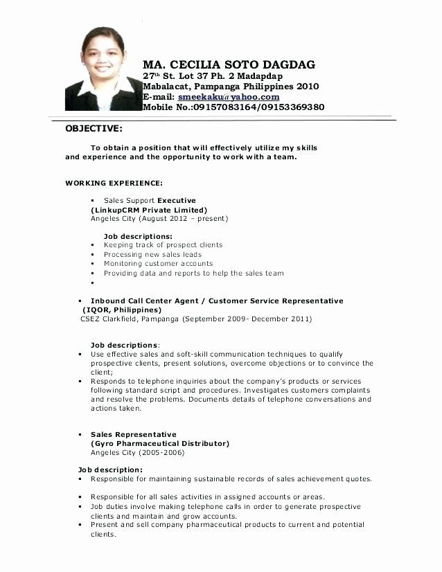 Call Center Jobs Description Resume Fresh 10 11 Resumes Samples For Customer Service Jobs In 2020 Job Resume Samples Job Resume Examples Resume Objective Sample